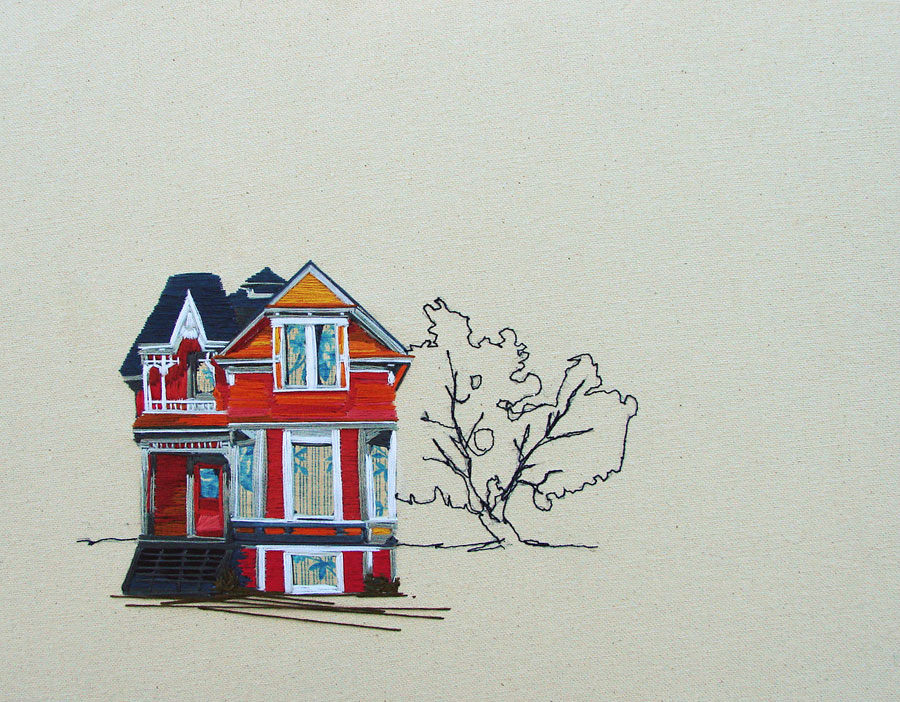 Embroidered Architecture by Stephanie Clark: Stephanie-K-Clark_01.jpg