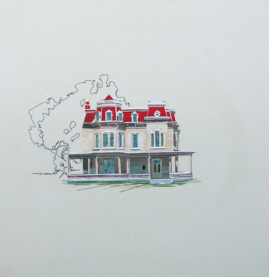 Embroidered Architecture by Stephanie Clark: Stephanie-K-Clark_02.jpg