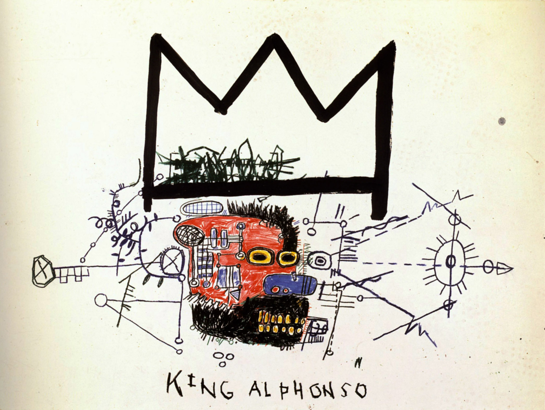 25 Years Ago Today, Jean-Michel Basquiat Died: king-alphonso.jpg
