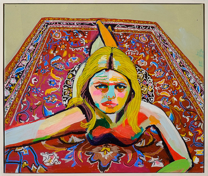 The Paintings of Andy Dixon: WomanOnRug.jpg