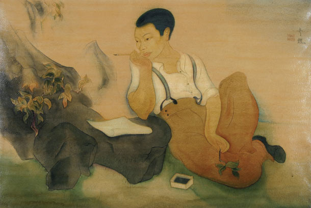 "Tyrus Wong ""Water to Paper, Paint to Sky"" @ Disney Family Museum, SF: 3.-WDFM_Wong_SelfPortrait.jpg"