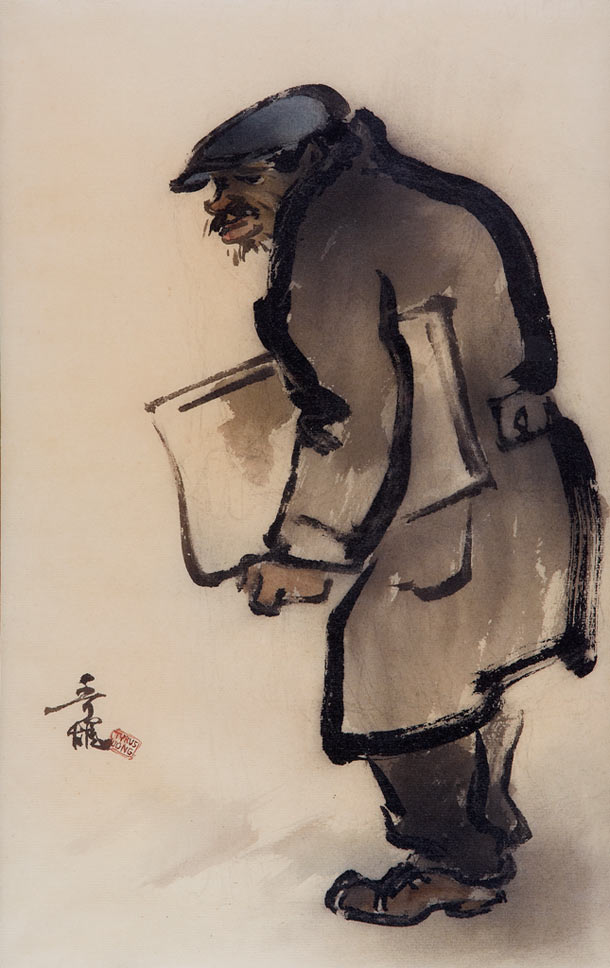 "Tyrus Wong ""Water to Paper, Paint to Sky"" @ Disney Family Museum, SF: 4.-WDFM_Wong_Newsboy.jpg"