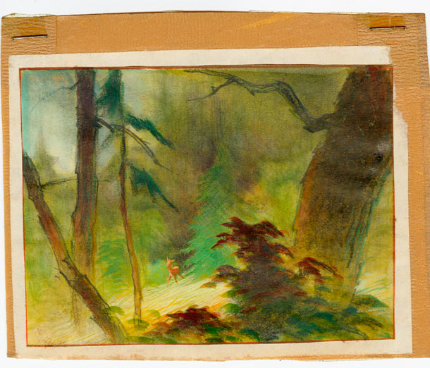 "Tyrus Wong ""Water to Paper, Paint to Sky"" @ Disney Family Museum, SF: 5.-WDFM_Wong_Bambi_Glad.jpg"