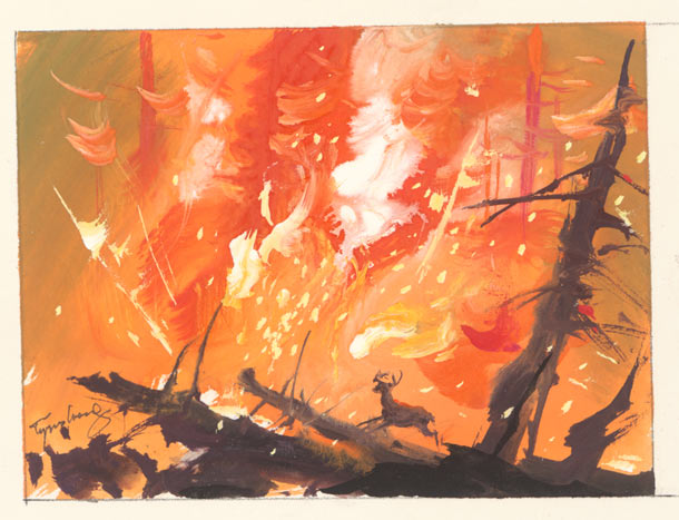 "Tyrus Wong ""Water to Paper, Paint to Sky"" @ Disney Family Museum, SF: 7.-WDFM_Wong_Bambi_Wong.jpg"