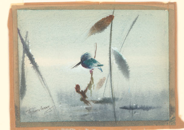 "Tyrus Wong ""Water to Paper, Paint to Sky"" @ Disney Family Museum, SF: 8.-WDFM_Wong_Bambi_bird.jpg"