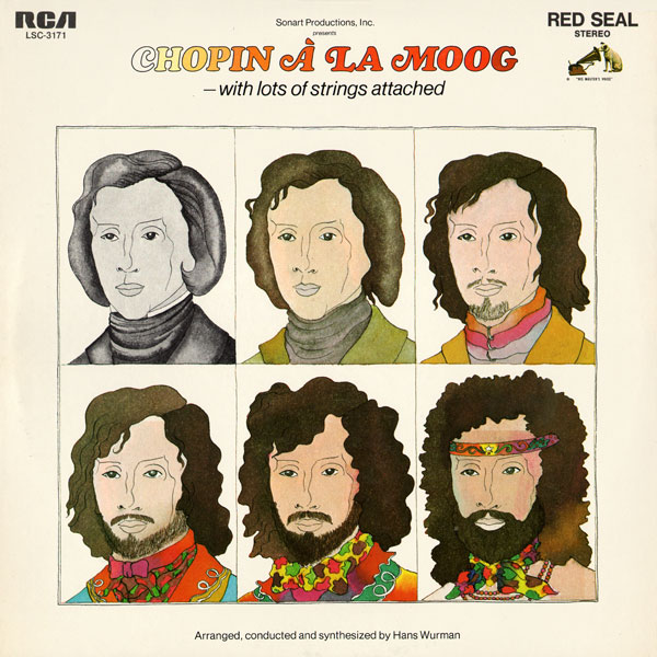 Celebrating Psychedelic and Pop Art in Album Covers: 04 Barbara Nessim- Chopin a la Moog.jpg