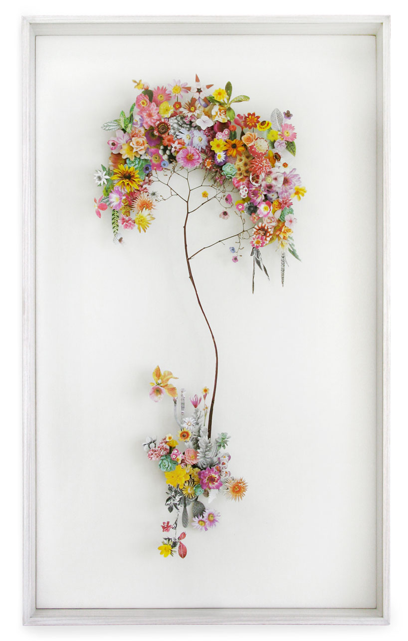 Collaged Flowerscapes by Anne Ten Donkelaar