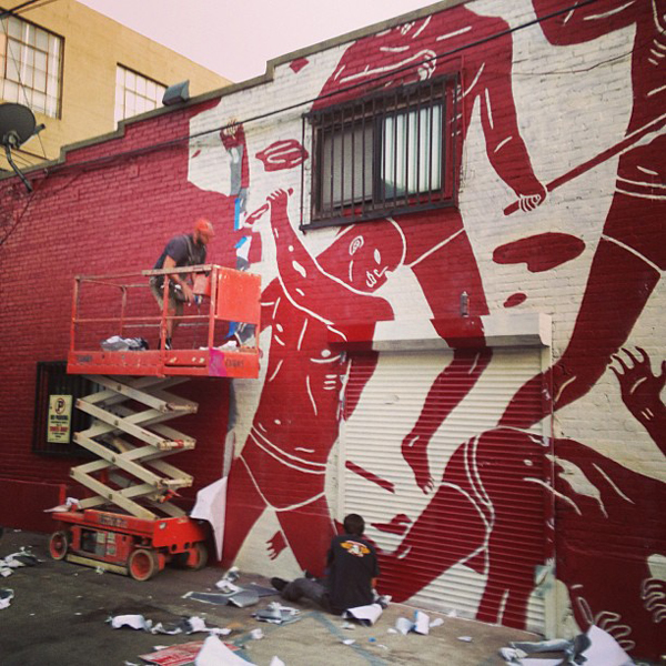 New Cleon Peterson mural in Los Angeles: jux_cleon_peterson.jpg