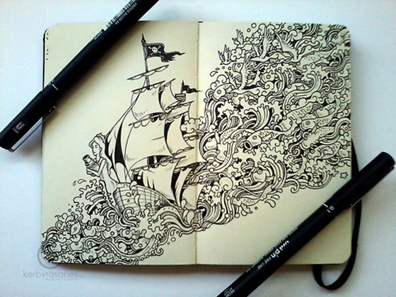The Doodle Art of Kerby Rosanes: tumblr_mofgxhuXrq1qmjp01o1_500.jpg