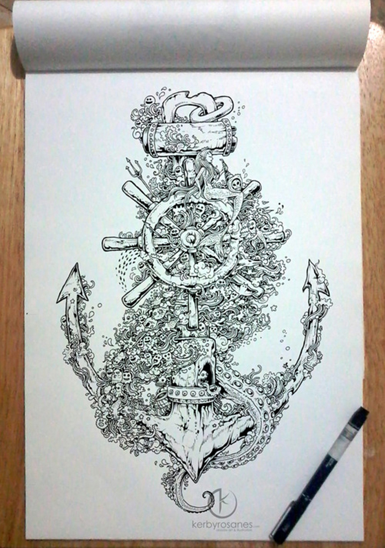 The Doodle Art of Kerby Rosanes: tumblr_mpyz6jjLrv1qmjp01o1_500.jpg