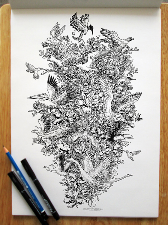The Doodle Art of Kerby Rosanes: tumblr_mr1zdaFWGA1qmjp01o1_500.jpg