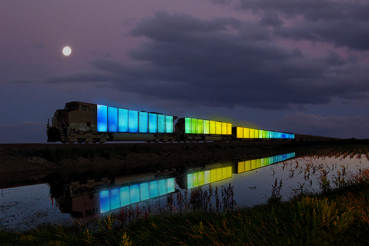 "Doug Aitken's ""Station to Station"": From the Atlantic to the Pacific: 2013-06-20-StationtoStationTrainRenderingCDougAitken.jpg"