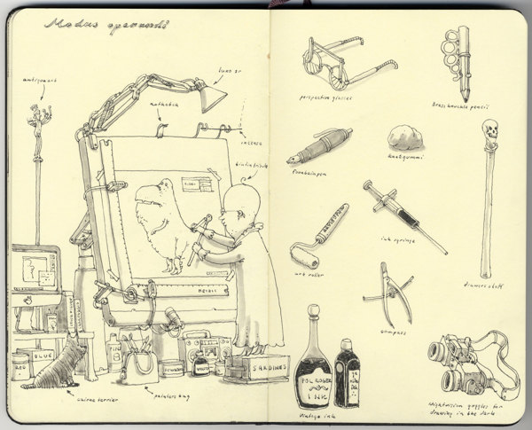 Sketchbook Illustrations by Mattias Adolfsson: 237f51b5688458b04b1f72e2f20a227a.jpg