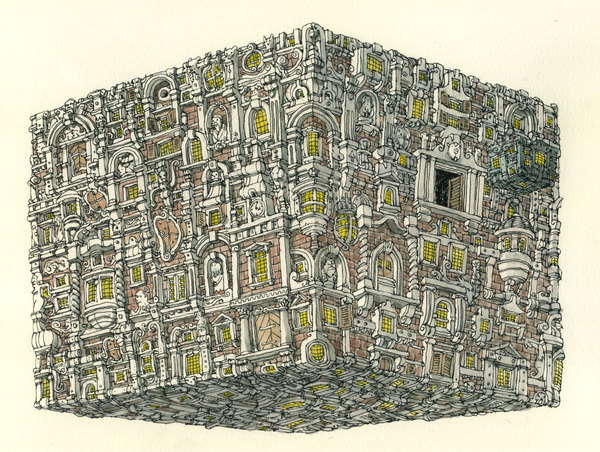Sketchbook Illustrations by Mattias Adolfsson: 40217880c836c870cb687c970a768e25.jpg