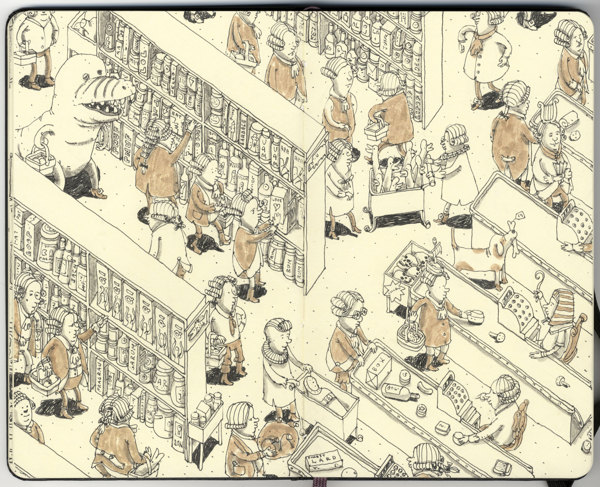 Sketchbook Illustrations by Mattias Adolfsson: 84625cae6382a7d92a6ea4aa38d20e5c.jpg