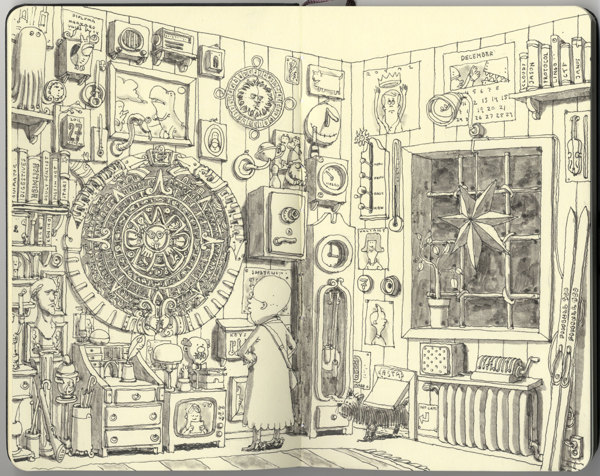 Sketchbook Illustrations by Mattias Adolfsson: ac7f2d4a7eff1e6bae7be45c1ba293a5.jpg