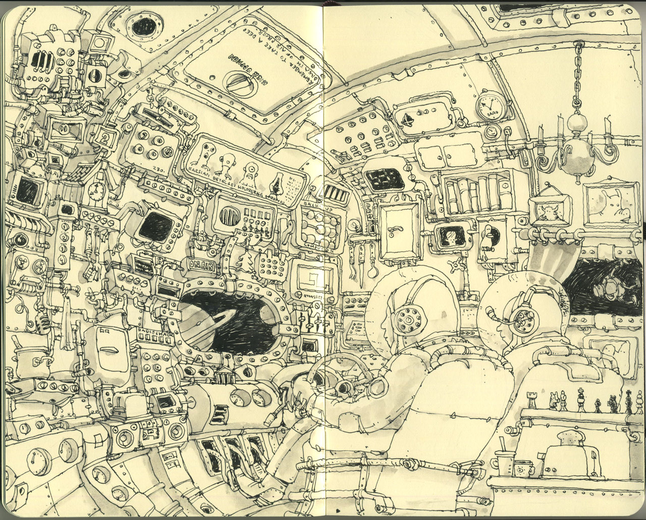 Sketchbook Illustrations by Mattias Adolfsson: b6e8ef63fb4bd31d837b4bf1cbab47d4.jpg