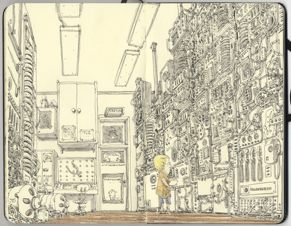 Sketchbook Illustrations by Mattias Adolfsson: dec4dec6a9c15bf69436806a299c7a53.jpg