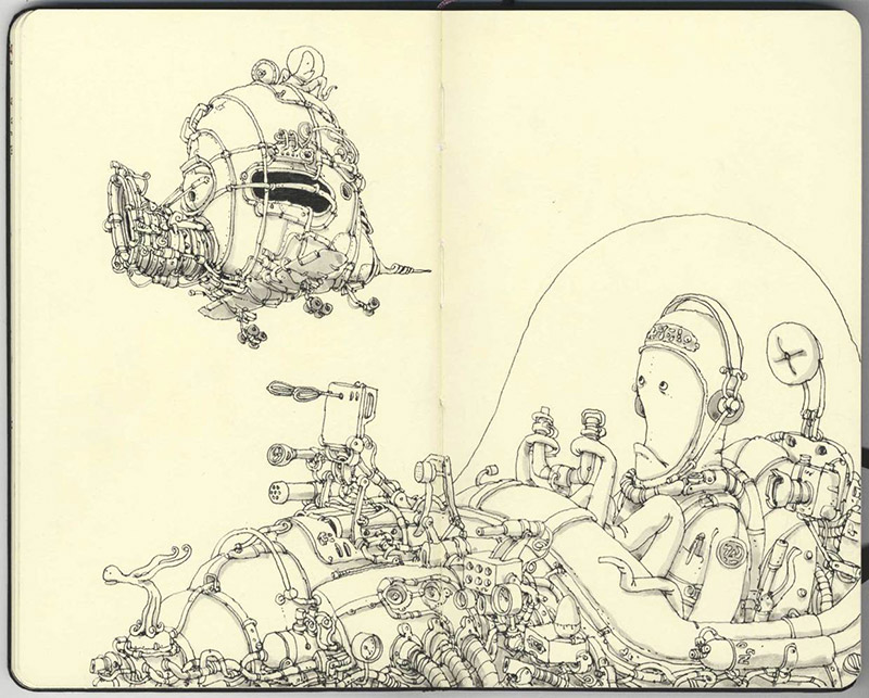 Sketchbook Illustrations by Mattias Adolfsson: mattias-adolfsson-sketch-book-7.jpg