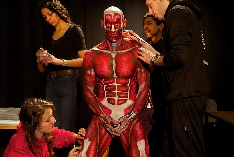 RMIT Students Paint an Anatomical Man: rmit-anatomical-man-designboom-01.jpg