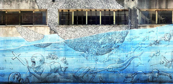 New Blu mural in Messina, Italy: jux_blu1.jpg