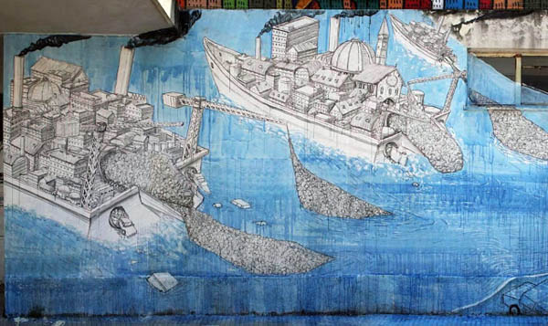New Blu mural in Messina, Italy: jux_blu4.jpg