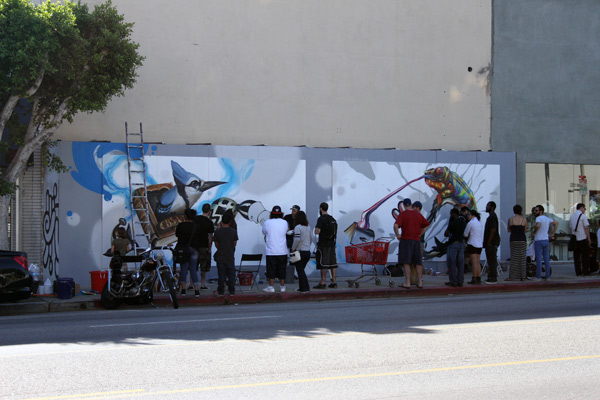 "In L.A.: Merry Karnowsky Gallery ""SUMMER SESSIONS: LIVE PAINTING"": tar_7180.jpg"