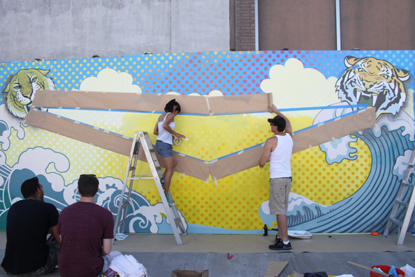 "In L.A.: Merry Karnowsky Gallery ""SUMMER SESSIONS: LIVE PAINTING"": tar_7206.jpg"