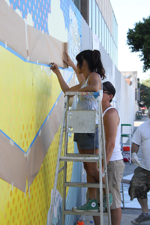 "In L.A.: Merry Karnowsky Gallery ""SUMMER SESSIONS: LIVE PAINTING"": tar_7213.jpg"