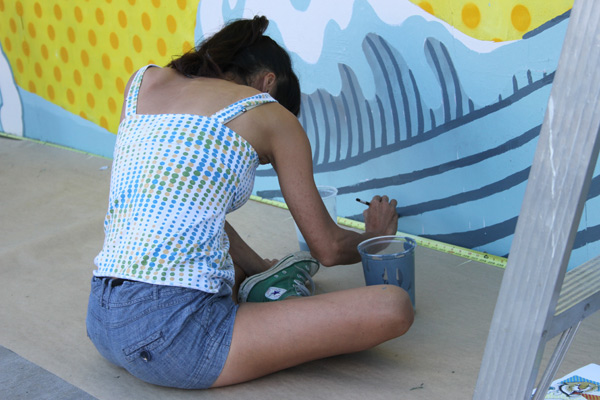 "In L.A.: Merry Karnowsky Gallery ""SUMMER SESSIONS: LIVE PAINTING"": tar_7313.jpg"