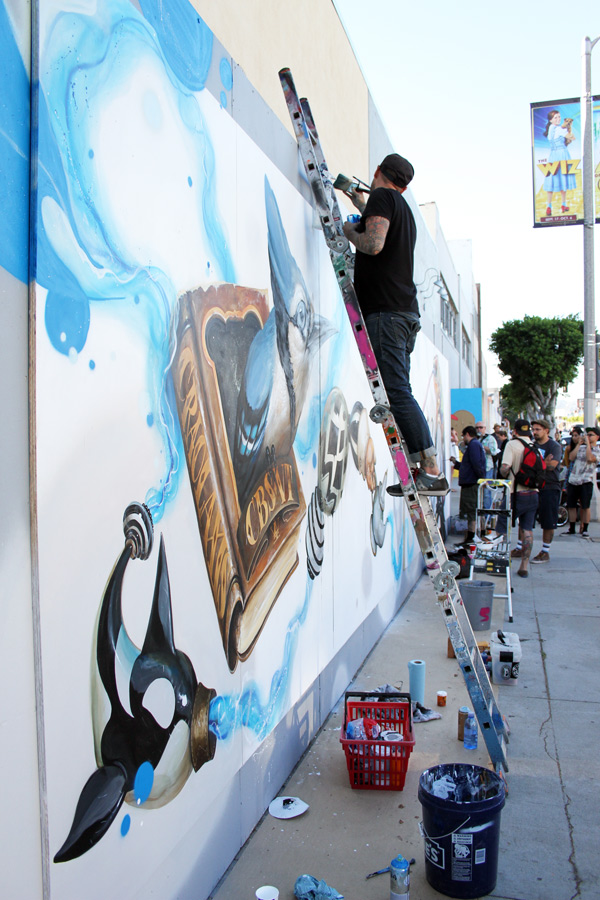 "In L.A.: Merry Karnowsky Gallery ""SUMMER SESSIONS: LIVE PAINTING"": tar_7338.jpg"
