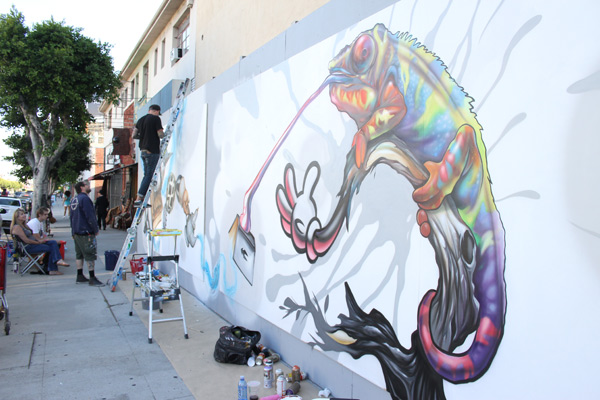 "In L.A.: Merry Karnowsky Gallery ""SUMMER SESSIONS: LIVE PAINTING"": tar_7386.jpg"