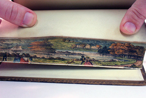 Fore-Edge Painting, Scenes Painted on the Edges of Book Pages: tumblr_msiatt1iIt1rqo4zeo1_500.jpg