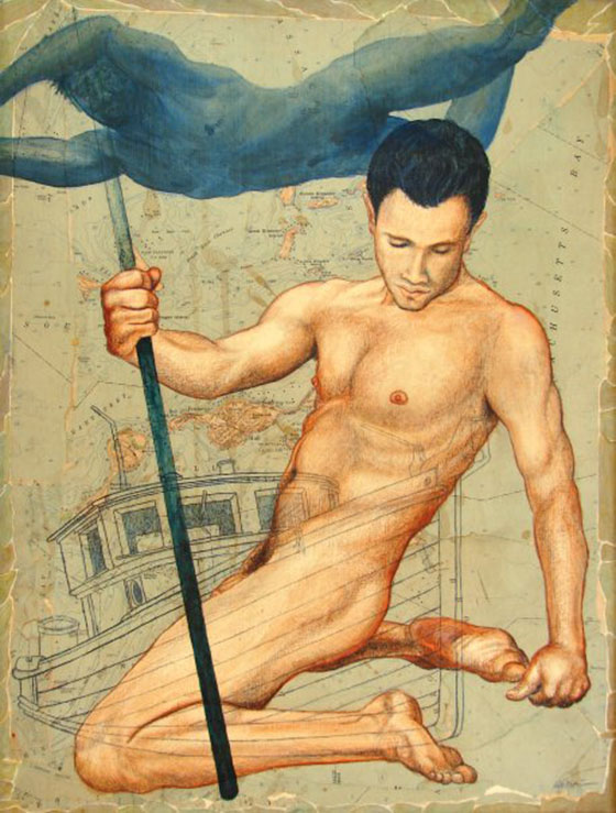 Rob Adamcik and the Homoerotic Sentiment: Robert M Adamcik Living On the Land, Dreaming Of the Sea.jpg
