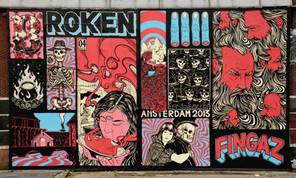 New wall and upcoming show from Broken Fingaz: jux_broken_fingaz1.jpg