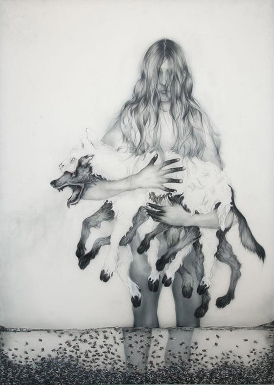 Anthony Goicolea's Ghostly Hybrids: wolf.jpg