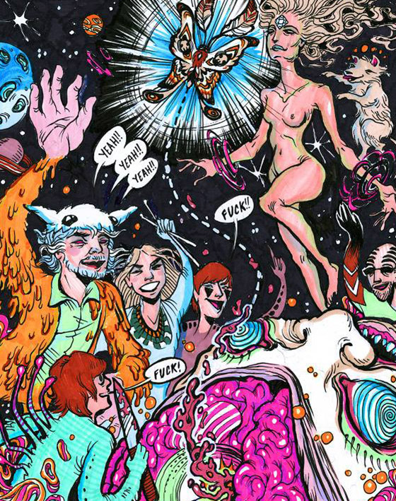 "Interview: Wayne Coyne's Comic, ""The Sun is Sick"": moth.jpg"
