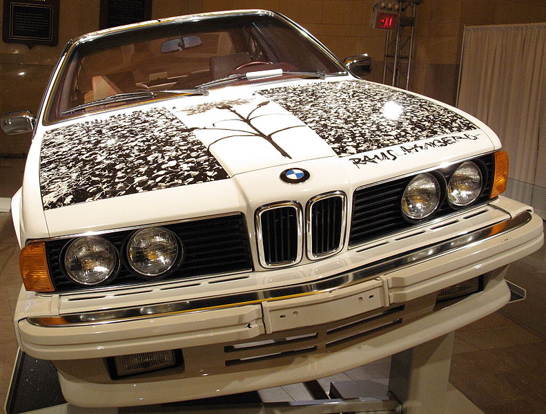 The BMW Art Car: 791px-Rauschenberg1.JPG