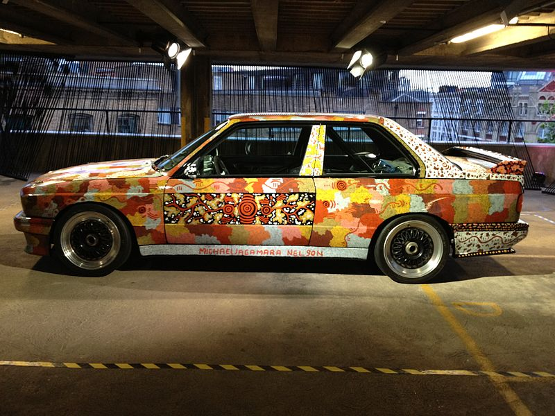 The BMW Art Car: 800px-Michael_Nelson_Jagamarra_BMW_Art_Car.jpg