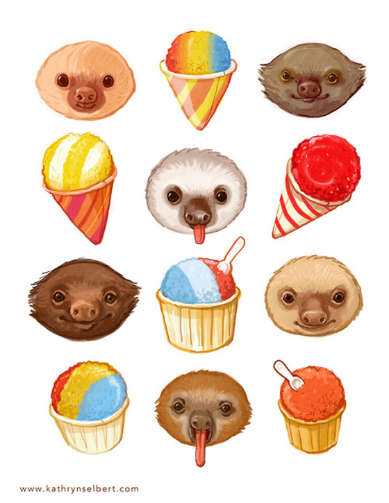 Sloths and Sno-Cones by Kathryn Selbert: tumblr_mrwwldtDWa1rcfvpno1_500.jpg