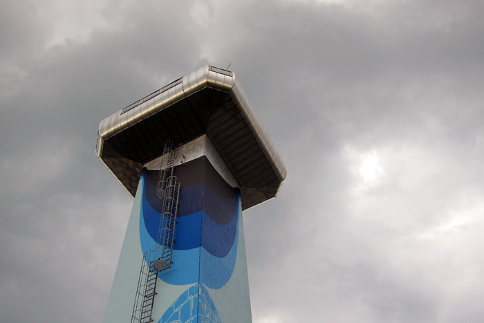 Nuart 2013: M-City Paints the Control Tower of Stavanger (SOLA) International Airport: IMG_6083.JPG