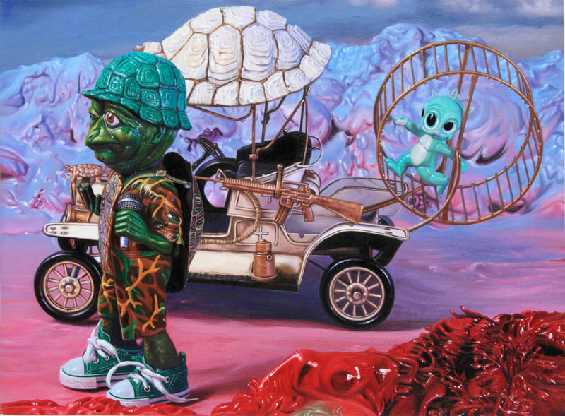 "Sneak Peek: Ron English ""Popagandastan"" @ Corey Helford Gallery, opening October 26, 2013: slow moe.ptg18x24.JPG"
