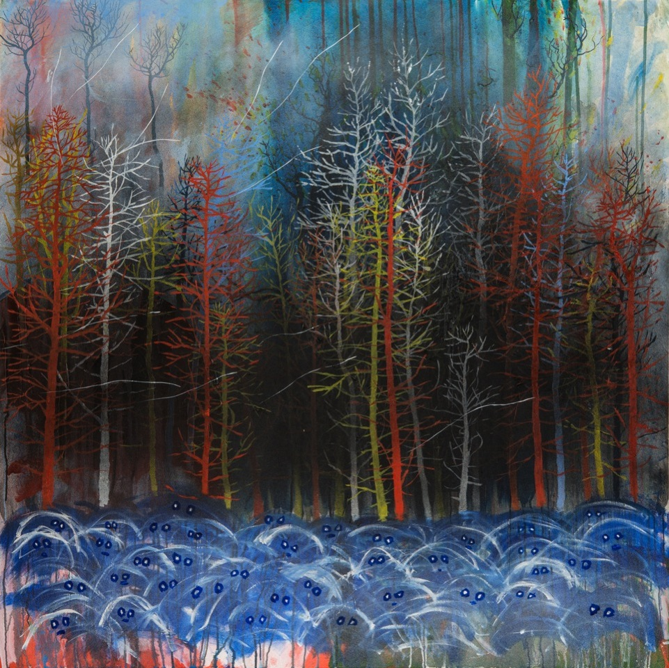 "Stanley Donwood ""Far Away Is Close At Hand in Images of Elsewhere"" @ The Outsiders, London: friday woods.jpeg"
