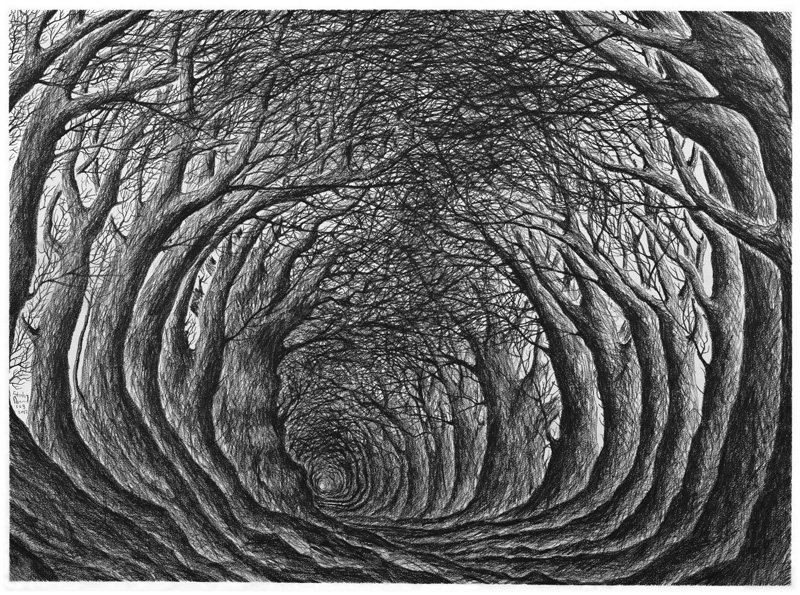 "Stanley Donwood ""Far Away Is Close At Hand in Images of Elsewhere"" @ The Outsiders, London: stanley-donwood-far-away-is-close-at-hand-577.jpg"