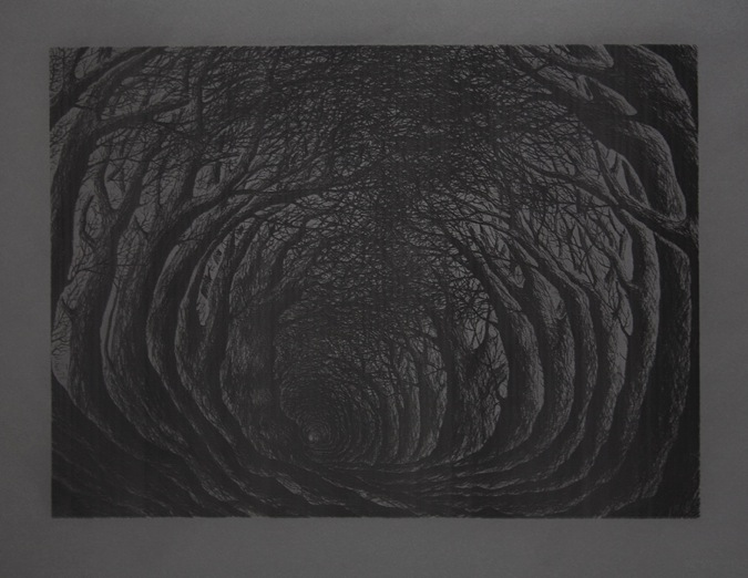 "Stanley Donwood ""Far Away Is Close At Hand in Images of Elsewhere"" @ The Outsiders, London: vaporised holloway.jpeg"