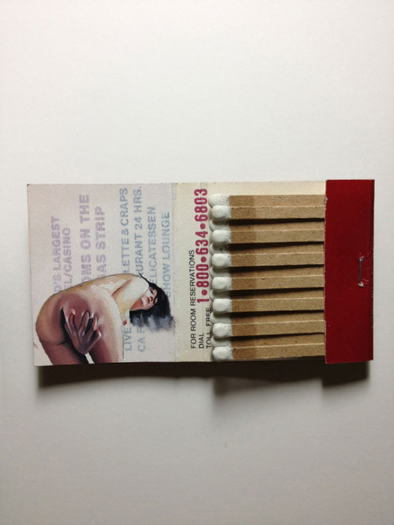 Joseph Martinez: New Matchbook Paintings: Joseph-Martinez_Matchbook-Paintings_13.jpg