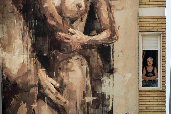 Three nude women by Borondo in Blanca, Spain: jux_borondo1.jpg