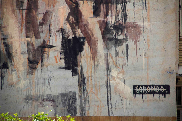 Three nude women by Borondo in Blanca, Spain: jux_borondo2.jpg