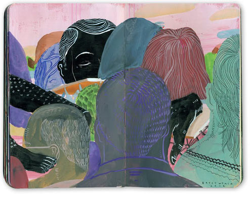 Sketchbook Illustrations by Bryce Wymer: BW_NY_Spring_2012.jpg