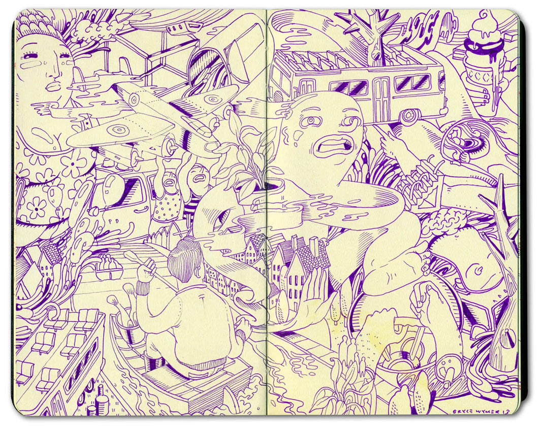 Sketchbook Illustrations by Bryce Wymer: BW_NY_Tourbuss_02.jpg